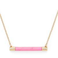 Model Content for Kate Spade Building Blocks Bar Pendant in Pink