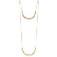 Model Content for SLATE Asha Layered Necklaces in Gold