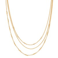 Model Content for Gorjana Joplin Layered Necklace in Gold