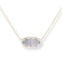 Model Content for Kendra Scott Elisa Necklace in Slate