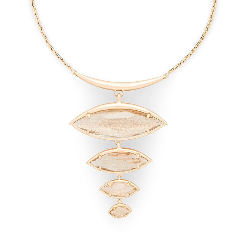 Kendra Scott Morris Adjustable Torque Necklace in Gold Dusted Glass