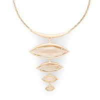 Model Content for Kendra Scott Morris Adjustable Torque Necklace in Gold Dusted Glass