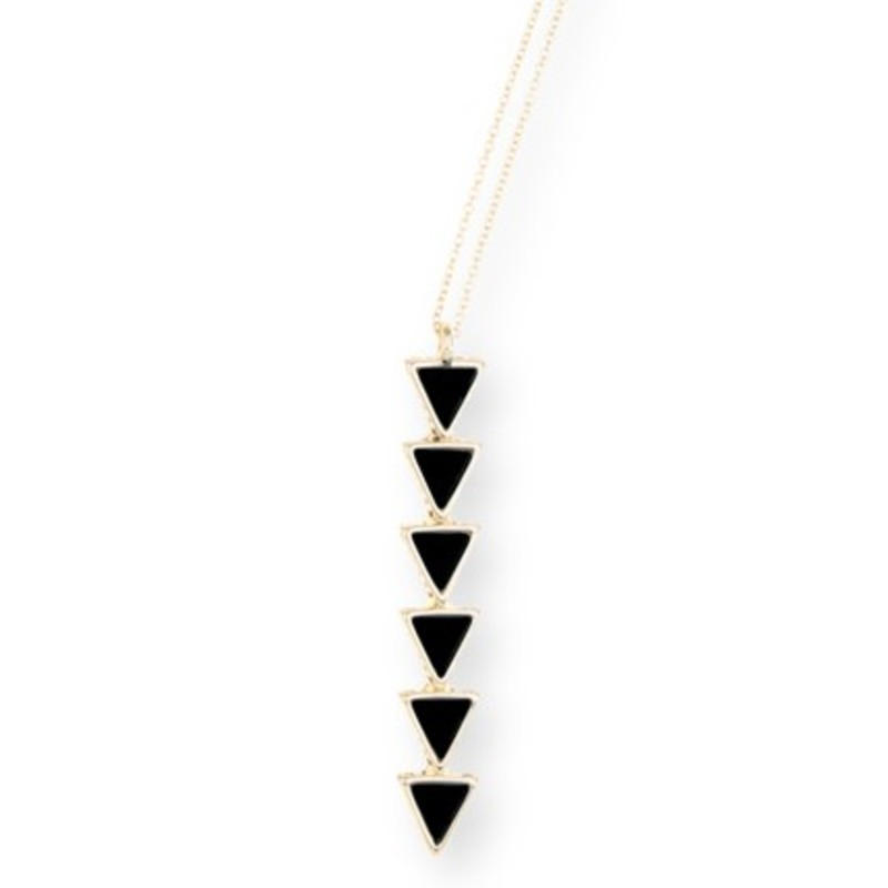 House of Harlow 1960 Ascension Pendant Necklace in Black