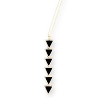 Model Content for House of Harlow 1960 Ascension Pendant Necklace in Black