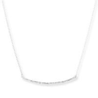 Model Content for Gorjana Taner Bar Small Necklace in Sterling Silver
