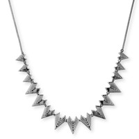 Model Content for SLATE Engraved Triangle Necklace in Gunmetal