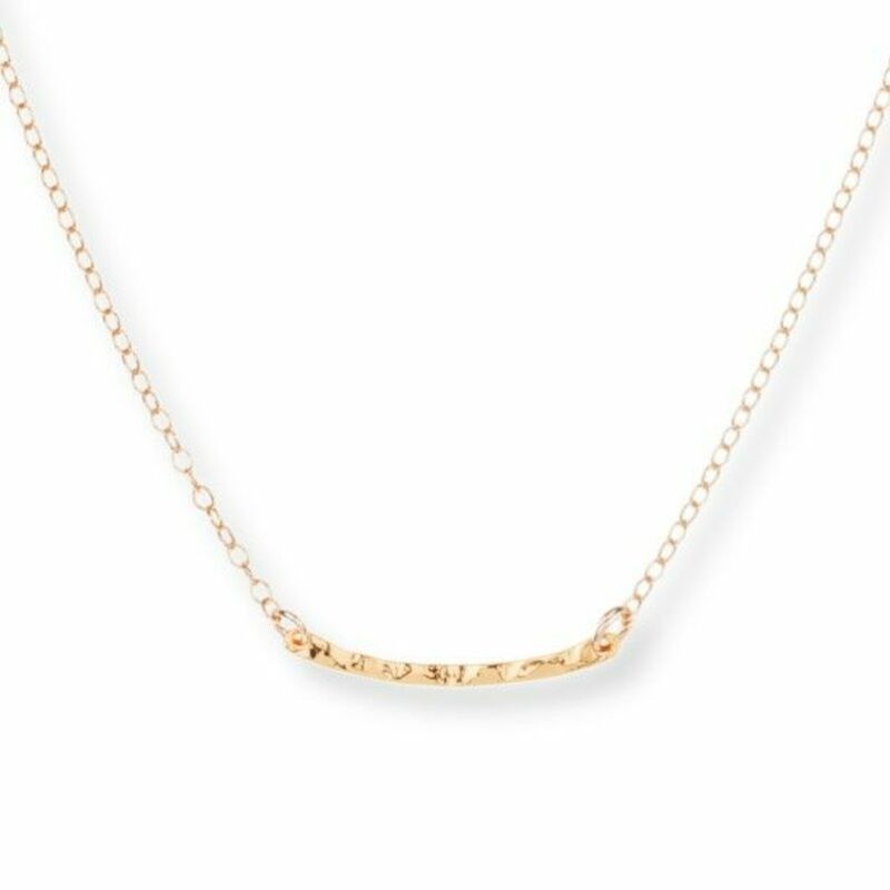 Model Content for Gorjana Taner Bar Mini Necklace in Gold