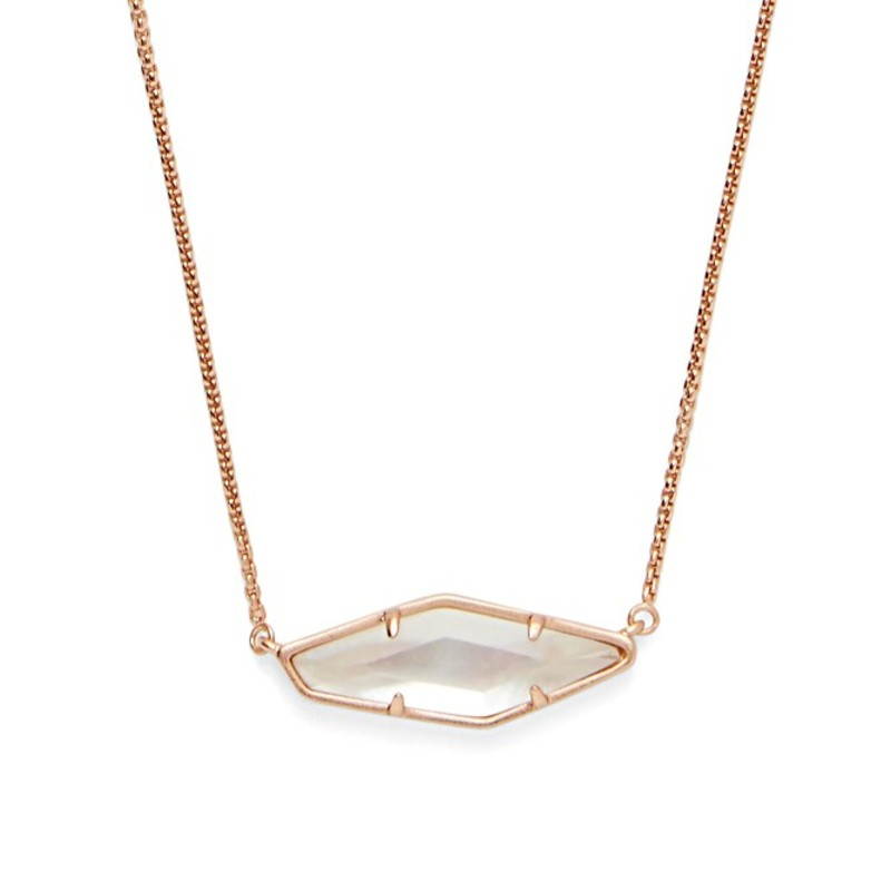 Kendra Scott Beth Necklace in Rose Gold and Ivory Mother of Pearl