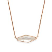 Model Content for Kendra Scott Beth Necklace in Rose Gold and Ivory Mother of Pearl