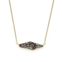 Model Content for Kendra Scott Beth Necklace in Gold and Navy Crackle Illusion