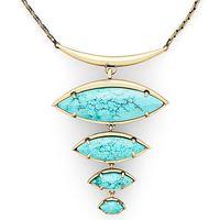 Model Content for Kendra Scott Morris Adjustable Torque Necklace in Turquoise Magnesite