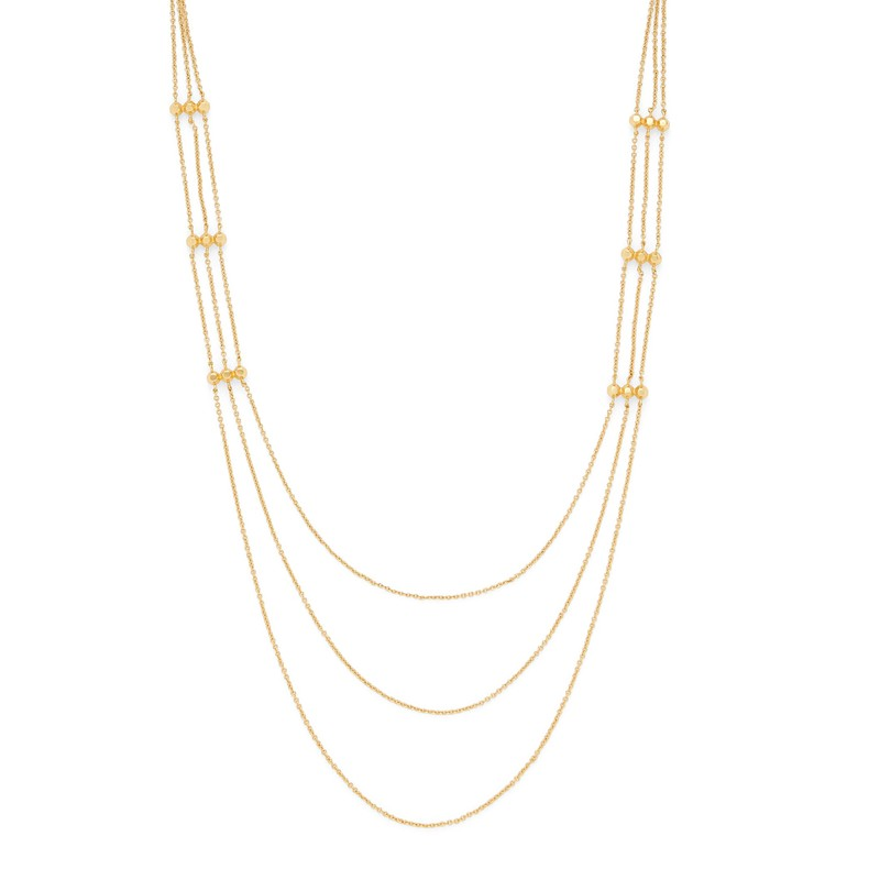 Model Content for Gorjana Gold Rush Layer Necklace