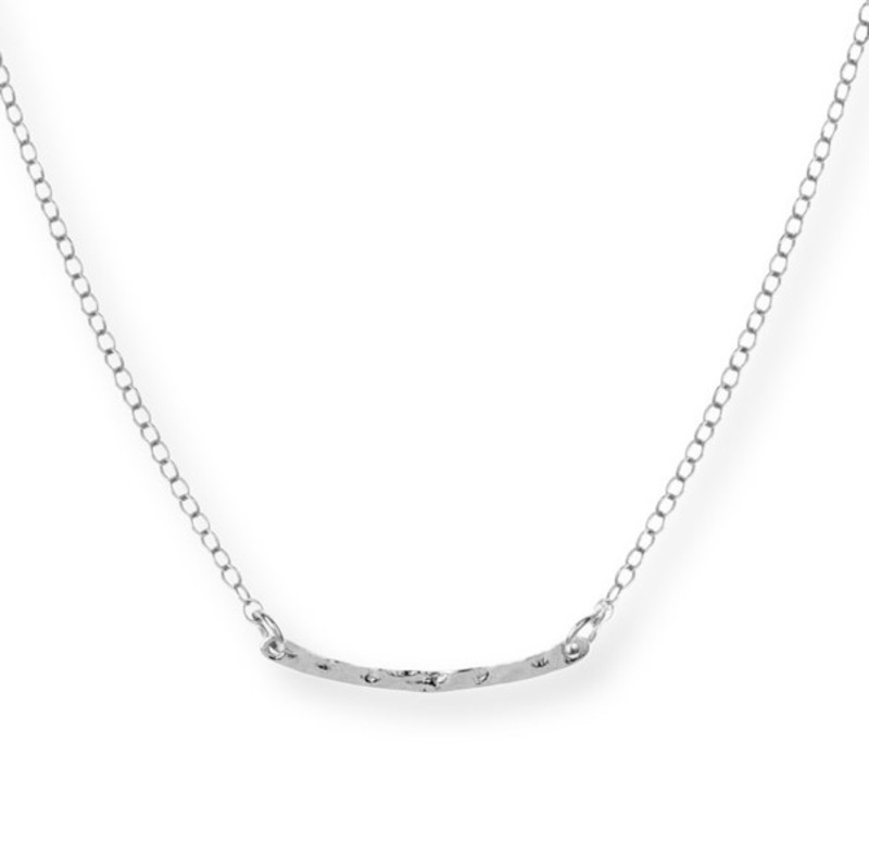Gorjana Taner Bar Mini Necklace in Silver