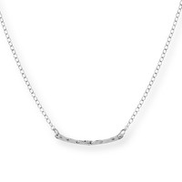 Model Content for Gorjana Taner Bar Mini Necklace in Silver