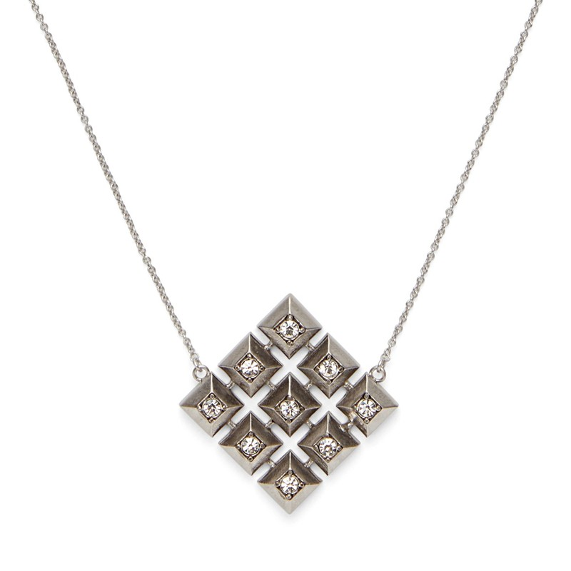 Model Content for House of Harlow 1960 Lyra Pendant Necklace in Silver