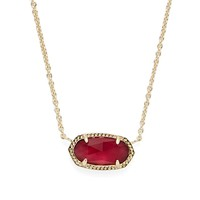 Model Content for Kendra Scott Elisa Necklace in Burgundy Illusion