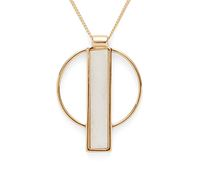 Model Content for Jenny Bird Pollux Pendant in Gold and White
