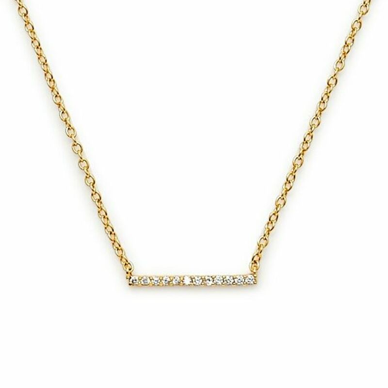 Gorjana Knox Pavé Bar Necklace