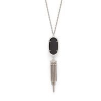 Model Content for Kendra Scott Rayne Silver Necklace in Black