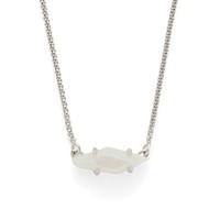 Model Content for Kendra Scott Bridgete Necklace in Silver and Iridescent White Banded Agate