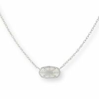 Model Content for Kendra Scott Elisa Silver Necklace in Iridescent Drusy