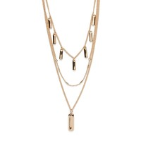 Model Content for SLATE Quinn Layer Necklace