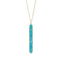 Model Content for Ava Rose Austin Necklace in Gold and Copper Turquoise