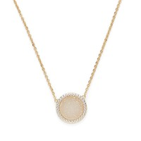 Model Content for Ava Rose Cheyenne Necklace in Gold and Iridescent Druzy