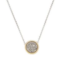 Model Content for Ava Rose Cheyenne Necklace in Silver with Platinum Druzy