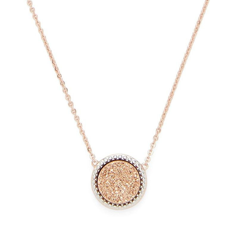 Ava Rose Cheyenne Necklace in Rose Gold with Rose Gold Druzy