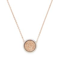 Model Content for Ava Rose Cheyenne Necklace in Rose Gold with Rose Gold Druzy