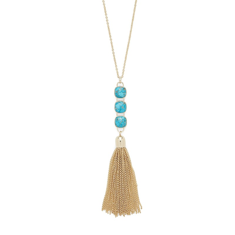 Ava Rose Hudson Necklace in Gold and Copper Turquoise
