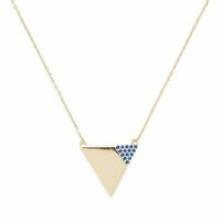 Model Content for Sophie Harper Triangle Necklace with Cobalt Pavé