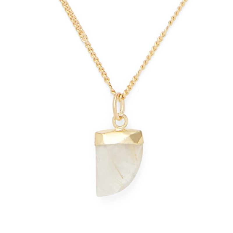 Aster Aloe Necklace in Rutilated Quartz