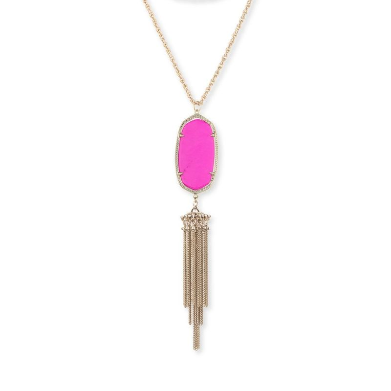 Model Content for Kendra Scott Rayne Necklace in Magenta