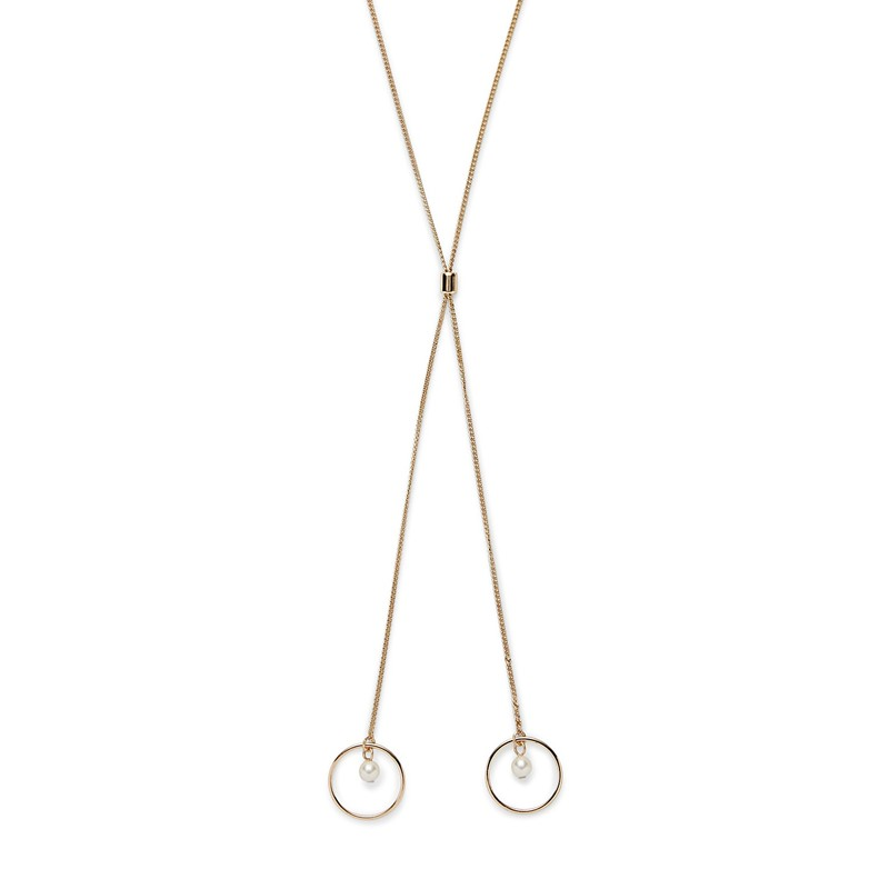 Sophie Harper Open Circle Pearl Drop Necklace