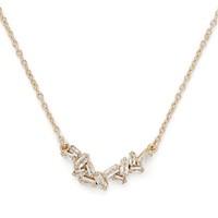 Model Content for Sophie Harper Baguette Cluster Necklace in Gold