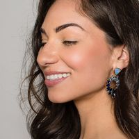 User Generated Content for Perry Street Evie Statement Earrings in Blue Ombre