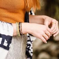 User Generated Content for Gorjana Power Gemstone Beaded Bracelet in Gold and Smoky Quartz
