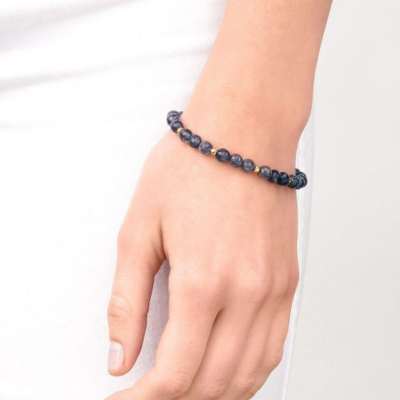 User Generated Content for Gorjana Power Gemstone Beaded Bracelet in Silver and Iolite