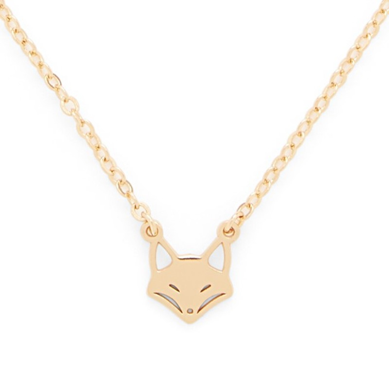 Sophie Harper Fox Necklace in Gold