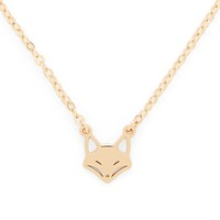 Model Content for Sophie Harper Fox Necklace in Gold