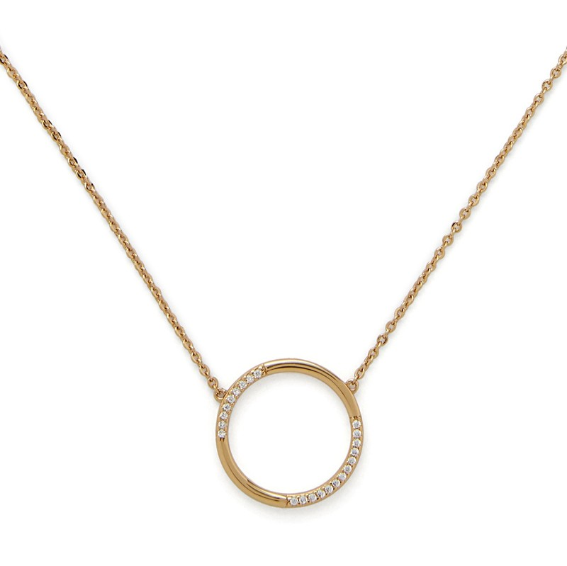 Model Content for Sophie Harper Open Circle Pavé Pendant