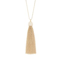 Model Content for Aster Cypress Tassel Necklace