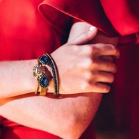 User Generated Content for Loren Hope Small Sara Cuff in Midnight Navy