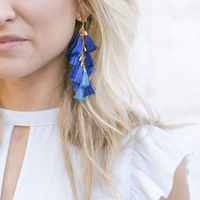 User Generated Content for WILDE Milan Earrings in Gold with Turquoise and Cobalt