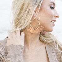 User Generated Content for Aster Carnation Hoops in Silver & Bronze