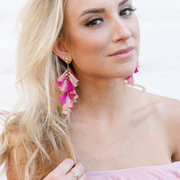 User Generated Content for WILDE Milan Earrings in Gold with Peach and Very Berry