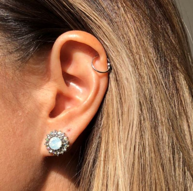 User Generated Content for Perry Street Lulu Studs in Gold
