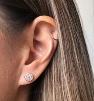 User Generated Content for Sophie Harper Pavé Disc Earrings in Rose Gold